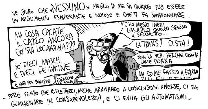 Estratto di un fumetto di Zerocalcare contenente il testo: